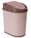 Контейнер для мусора 5л Бежевый мрамор М2480