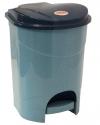 Контейнер для мусора 19л с педалью Голубой мрамор М2892