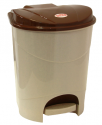 Контейнер для мусора 7л с педалью Бежевый мрамор М2890