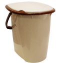 Ведро-туалет 24л Бежевый мрамор М2460