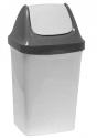 Контейнер для мусора 9л СВИНГ Мраморный М2461