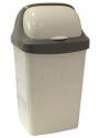 Контейнер для мусора 9л РОЛЛ ТОП Мраморный М2465