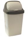 Контейнер для мусора 25л РОЛЛ ТОП Мраморный М2467