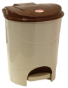 Контейнер для мусора 11л с педалью Бежевый мрамор М2891