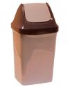 Контейнер для мусора 9л СВИНГ Бежевый мрамор М2461